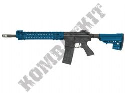 CM069 M4 URX Rail Electric Airsoft Rifle BB Machine Gun Metal Body & Gear Box 2 Tone Blue Black